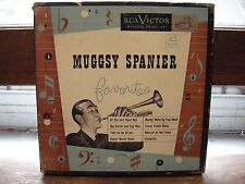 "MUGGSY SPANIER FAVORITES  EXcellent Vinyl 4 x 7"" Box Set 45's Ultrasonically Cle"