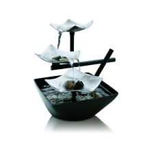 Silver Springs Indoor Relaxation Fountain  Illuminated Waterfall, Natural Sto...