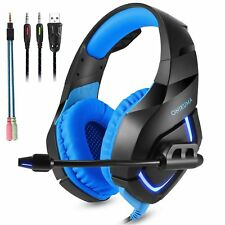 K1 3.5mm Gaming Headset Headphone Headband Microphone For PC PS4 XBOX ONE Blue