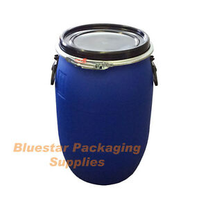 30L Litre Open Top Plastic Storage Drum Barrel Keg With Lid Food Grade * New *