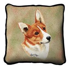 "Welsh Corgi Pillow Pure Country Weavers 17""x17"" Cotton Dog"