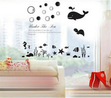 Under the Sea Ocean Home Room Decor Removable Wall Stickers Decal Decorations