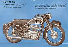 AJS - Motorrad-Programm - Prospekt - 1955 - Deutsch - nl-Versandhandel
