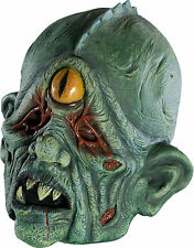 Childs Mutant Cyclops Mask One Eye Monster Kids Boys Girls Green Zombie Creature