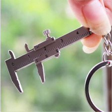 Useful Mini Vernier Caliper Tool Pendant Slider Slides Keyring Key Chain 10CM