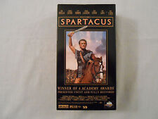 SPARTACUS Movie on 2 VHS Tapes: Kirk Douglas/Original/Collectible