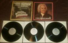 Bach Christmas Oratorio 3 LP box set w/ booklet Weihnachts Oratorium Schneidt