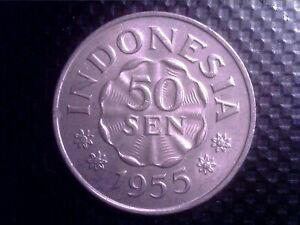 INDONESIA    50 SEN   1955      OCT17