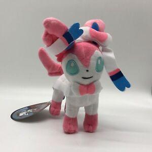 "Sylveon Plush Fairy-type Eevee Soft Toy Stuffed Animal Doll Teddy 9"""