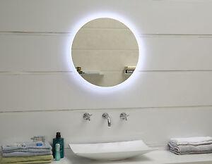 Design LED-Beleuchtung Badspiegel Wandspiegel Lichtspiegel GS047N rund 60 cm