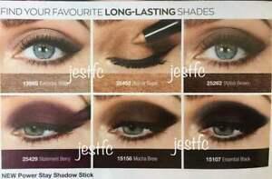 Avon POWER STAY Shadow Stick BEIGE BRONZE BROWN BERRY MOCHA BLACK Brand New