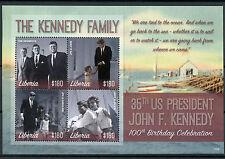 Liberia 2017 Gomma integra, non linguellato JFK John F. Kennedy 100th Bday 4v M/S II PRESIDENTI DEGLI STATI UNITI FRANCOBOLLI
