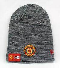 New Era Cap Men's Manchester United FC Grey Long Skull Knit Winter Beanie Hat