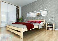 Holzbett Doppelbett Jugendbett Bettgestell Einzelbett Kiefer Bett 90x200