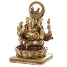 GANESH ROUGE ET OR STATUE SCULPTURE 14 cms