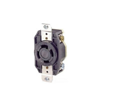 (A) LEVITON 2710 BLACK RECEPTACLE SINGLE LOCKING GROUNDING 30A,125/250A (10)