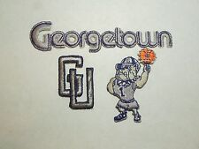 "3 Georgetown University Hoyas Patches- 1 Dark ""Georgetown"" 1 Mascot 1 GU--Lot B"