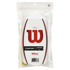 WILSON PRO overgrip Bianco per Tennis, Padel Pacco da 30 Grip, libero 48 HR tracciate