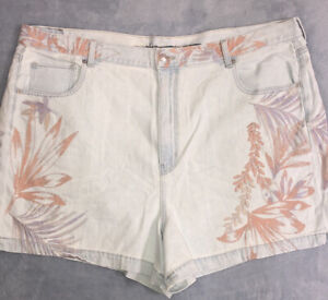 American Eagle Floral Blue Jean Shorts Size 22