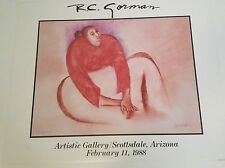 """RC GORMAN SIGNED Poster, """"WOMAN IN TANGERINE BLOUSE"""" 1988  Size is 24"""" X 30"""""""