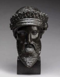 Buste en bronze à l'antique XIXème - dlg chiurazzi