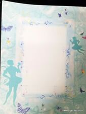 Fairies Paper Printing DYI Invitations Paper 7 PC Scrapping Book blue Tinkerbell