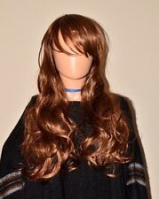 Unisex Brown Long Hair Wig Curly Wavy Hair Cosplay Costume Party Halloween NEW