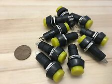 10 Pieces Yellow PUSH BUTTON SWITCH DC 6A Momentary N/O normally open on/off C19