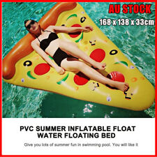 Giant Inflatable Pizza Pool Float Raft Swimming Lounge Toy Bed 168 x 138 x 33cm