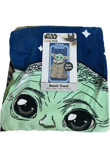 Star Wars Mandalorian Baby Yoda Grogu The Child Beach Pool Towel  58x28 New