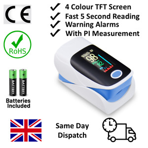 Accurate Pulse Oximeter Monitor Blood Oxygen Saturation, Heartbeat, PI, Oxymeter