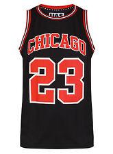 Mens Chicago Basketball Jersey Gym Vest Sports Top Urbanallstars Sleeveless Tee XL Black
