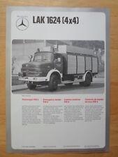 MERCEDES BENZ LAF 1113B & LAK 1624 Fire Fighting Vehicle 1974 Leaflet Brochure