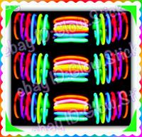 "1000 8"" GLOW STICKS NEON BRACELETS RAVE LIGHT FAVORS PARTY BIRTHDAY GLOWSTICKS"