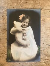More details for real photo postcard. girl with teddy bear.   ref692