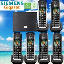 SIEMENS GIGASET C530IP CORDLESS HYBRID PHONE SYSTEM IP / LANDLINE - 6 PHONES