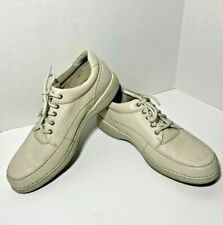 Rockport Mens Leather World Tour Elite Ivory Dynamic Suspension Comfort 11M