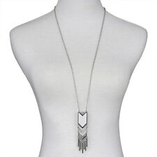 Retro Tassel Sweater Long Chain Pendant Gold Silver Plated Necklace Jewerly