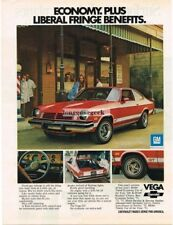 1974 Chevrolet Chvey Vega GT Red 2-door Coupe Vtg Print Ad