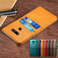 For LG Velvet G5 G6 G7 ThinQ V30+ Wallet Card Pocket Holder Case Leather Cover
