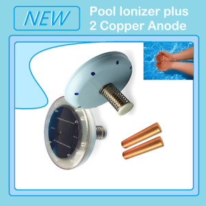 New Solar Pool Ionizer plus 2 Copper Anode, Kills Algae Using 80% Less Chlorine