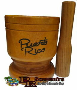 Puerto Rico Large Wood Mortar & Pestle Pylon Pilon Madera - Boricua Rican