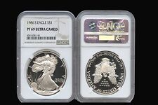 1986 S AMERICAN SILVER EAGLE 1oz NGC PF69 ULTRA CAMEO