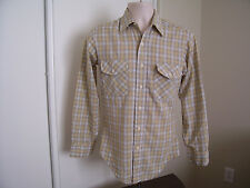 JC PENNY TOWNCRAFT VINTAGE LONG SLEEVE TAPERED NO IRON SHIRT MEN'S SMALL