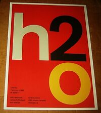 H2O Rock Concert Poster Swiss Punk Graphic Pop Art Obsessions Randolph Nj