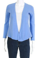 J. Mclaughlin Womens Long Sleeve Open Front Cardigan Sweater Blue Cashmere Small