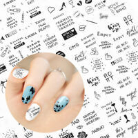 Love Text Manicure Decor Nail Art Sticker 3D Transfer Decal Adhesive Tips