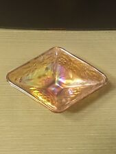 Vintage Amber Rainbow Carnival Glass Candy Dish