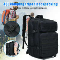 45L Extra Large Travel Backpack 15 inch Laptop Tactical Rucksack Bag Waterproof