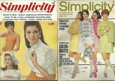New listing 2 Vintage Simplicity Fashion Magazine for Women Who Sew- Summer 68 & Spring 1969